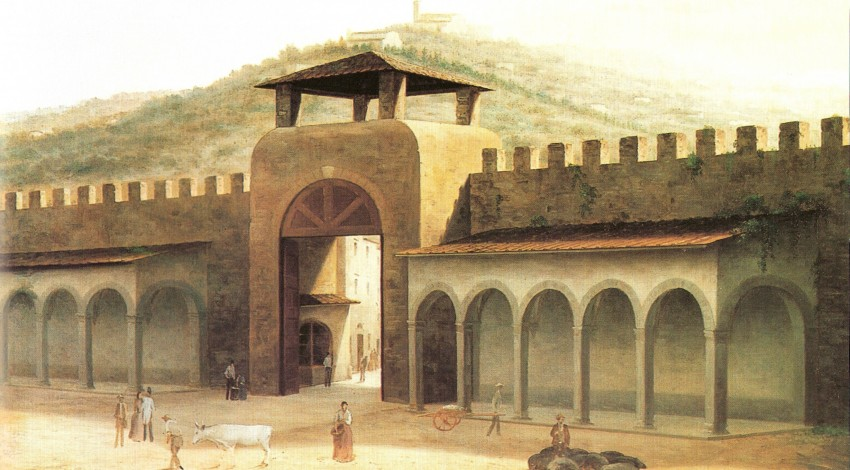 View of Ancient Florence by Fabio Borbottoni (1820-1902)